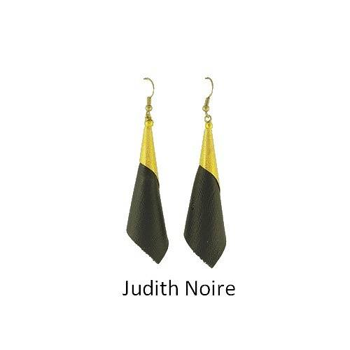 Judith: Earrings leather bouclesdoreillesjudithnoire